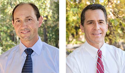 Dr. Adam Brown (left) and Dr. Andrew Saffer (right) of Carolina Foot & Ankle Specialists