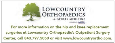 Contact Lowcountry Orthopaedics for more information on knee and hip replacement surgeries.
