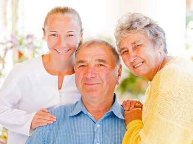 hospice care patient with family