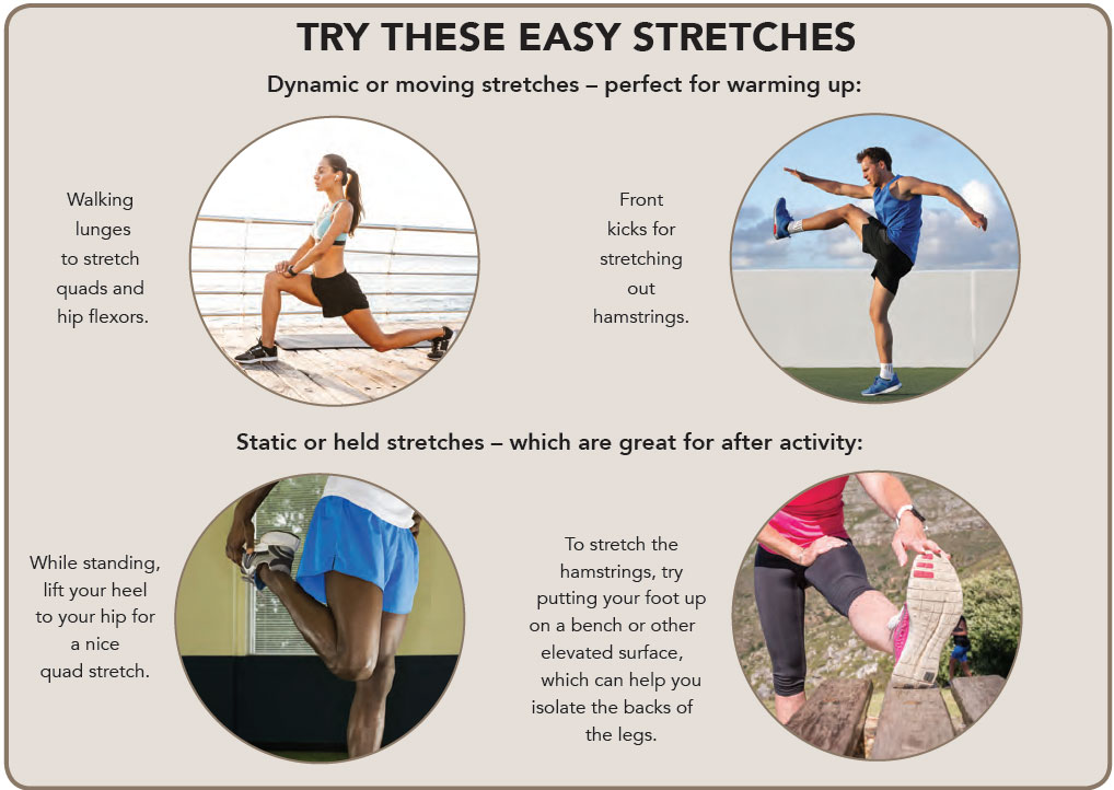 Try these easy stretches. Perfect for warming up.