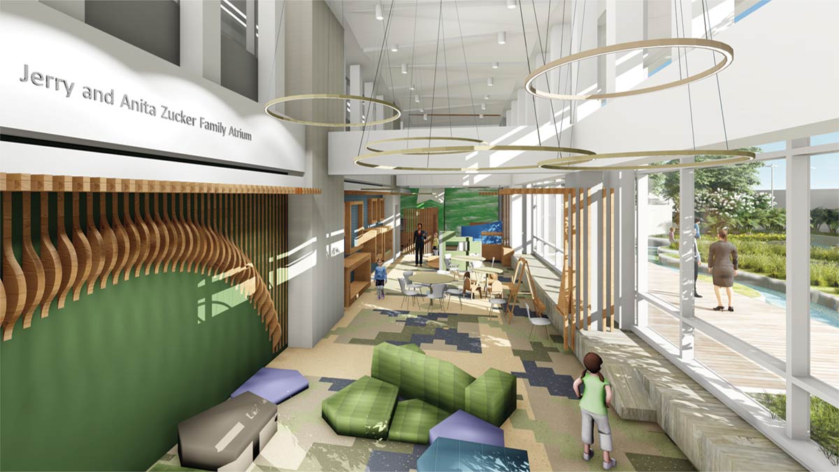 Artist concept of $5 Million MUSC Children's Play Area within its new children's hospital, set to open in 2019. Gifted by the Zucker Family.
