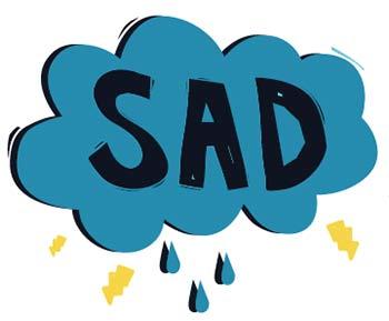 SAD cloud - seasonal affective disorder