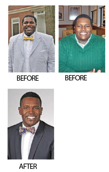 Cory Robinson before and after weight loss photos. You've got to love yourself and have fun.