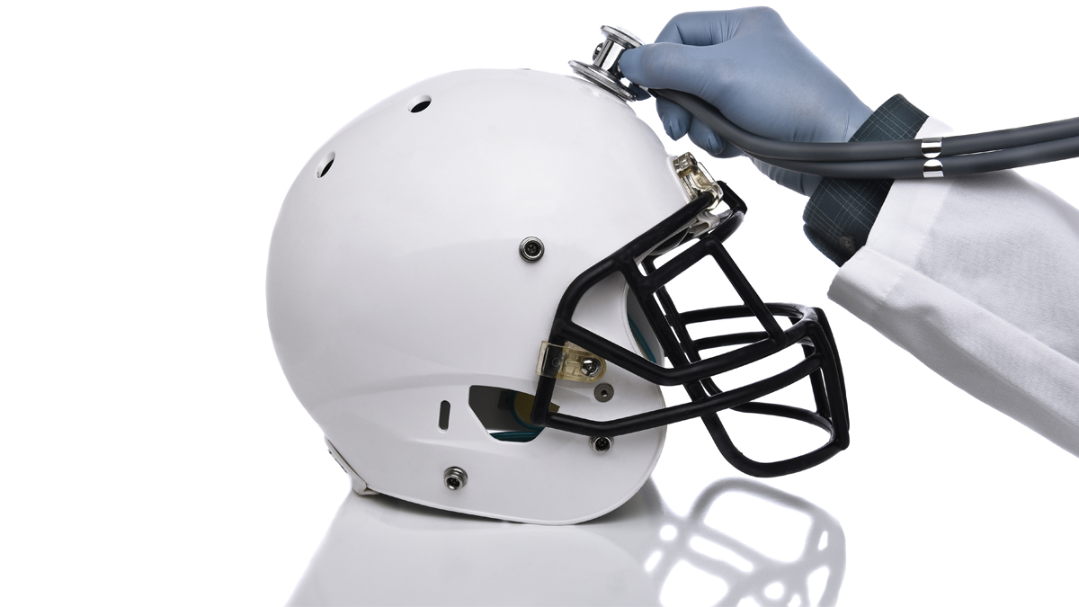Stethoscope on a football helmet - questions about concussions