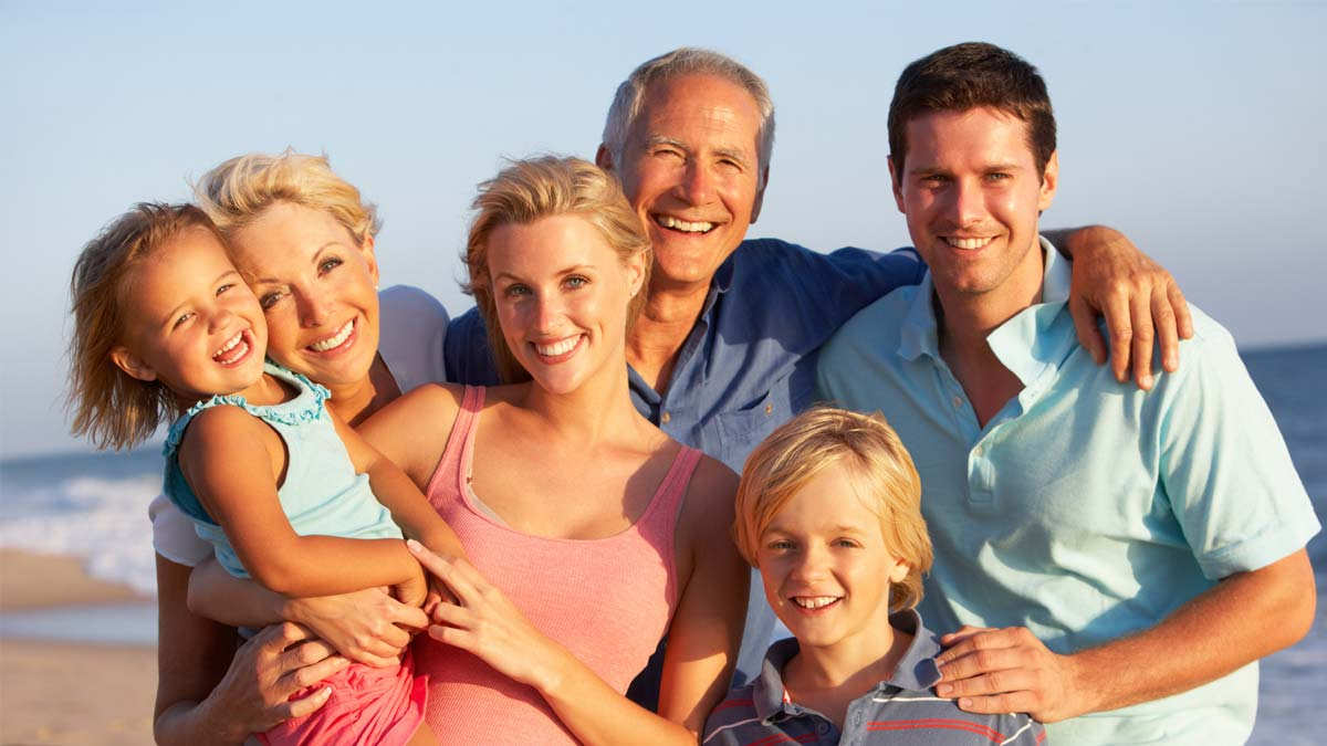 Photo of a happy family. Lifestyle medicine treats the whole.