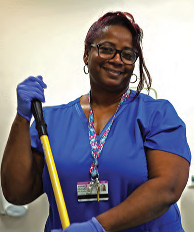 Michelle White, Supervisor in the Environmental Services Department at Roper St. Francis Hospital