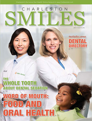 Charleston Smiles 2017 dental magazine cover