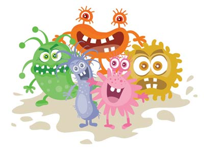 Eeek! Germs waiting to attack.