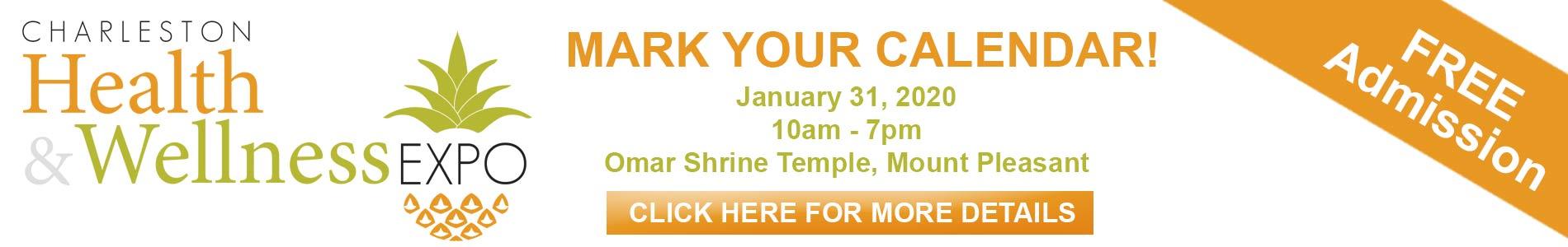 Mark your calendar for the 2020 Charleston Health & Wellness Expo