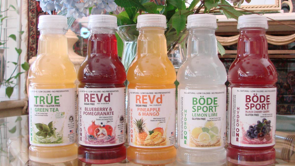 BÖDE Sport, REV-d and TRÜE Sugar-Free beverages by Hydro One