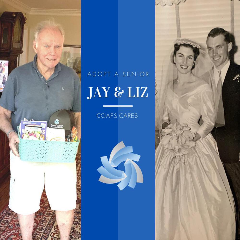 COAFS CARES, Adopt a Senior - Jay and Liz.