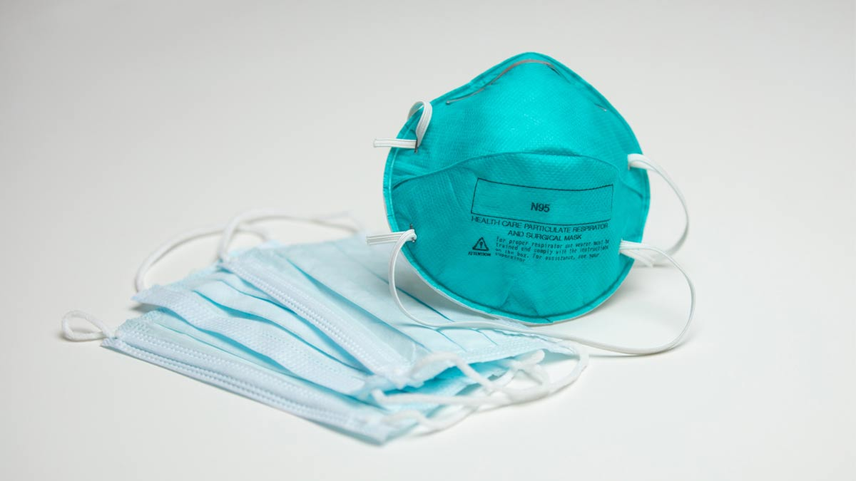 N95 Respiraor and some common surgical masks