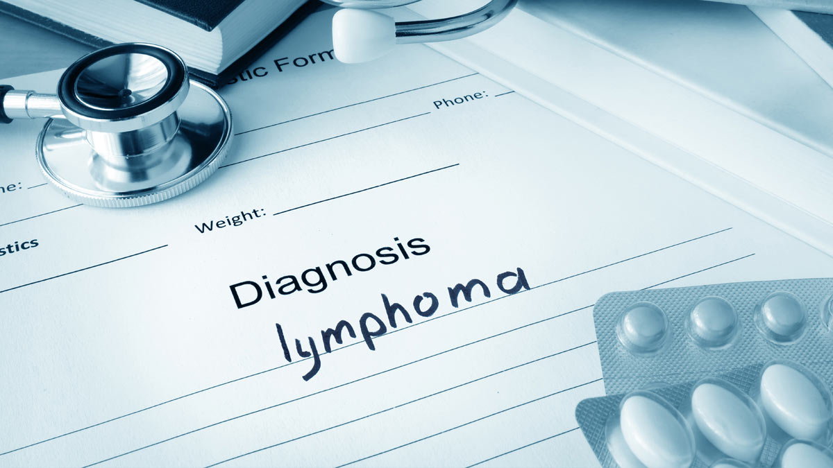 Medical report with a diagnosis of lymphoma