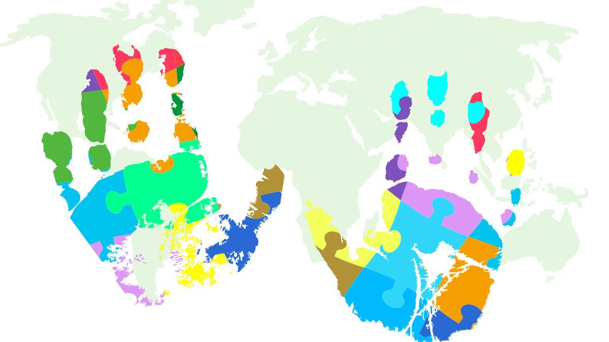Autism awareness & world map