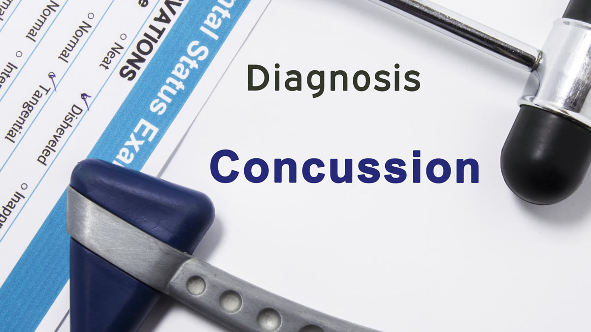 Medical paperwork for concussion.