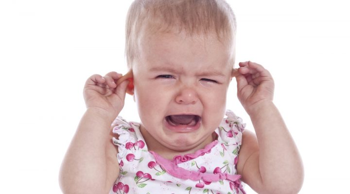 An infant crying & whining pulling at his ears. Infection?