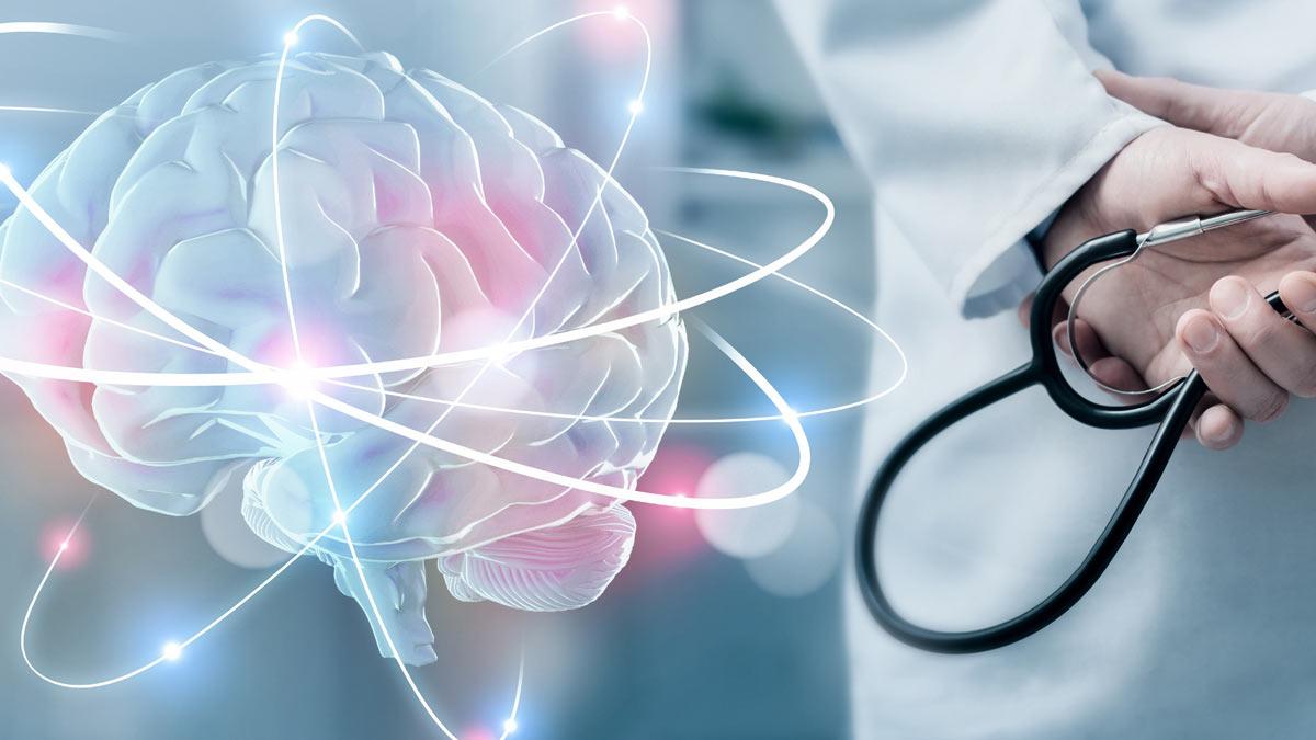 Illustration of an active brain