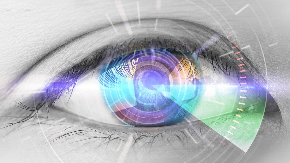 An eye illustrating vibrant vision