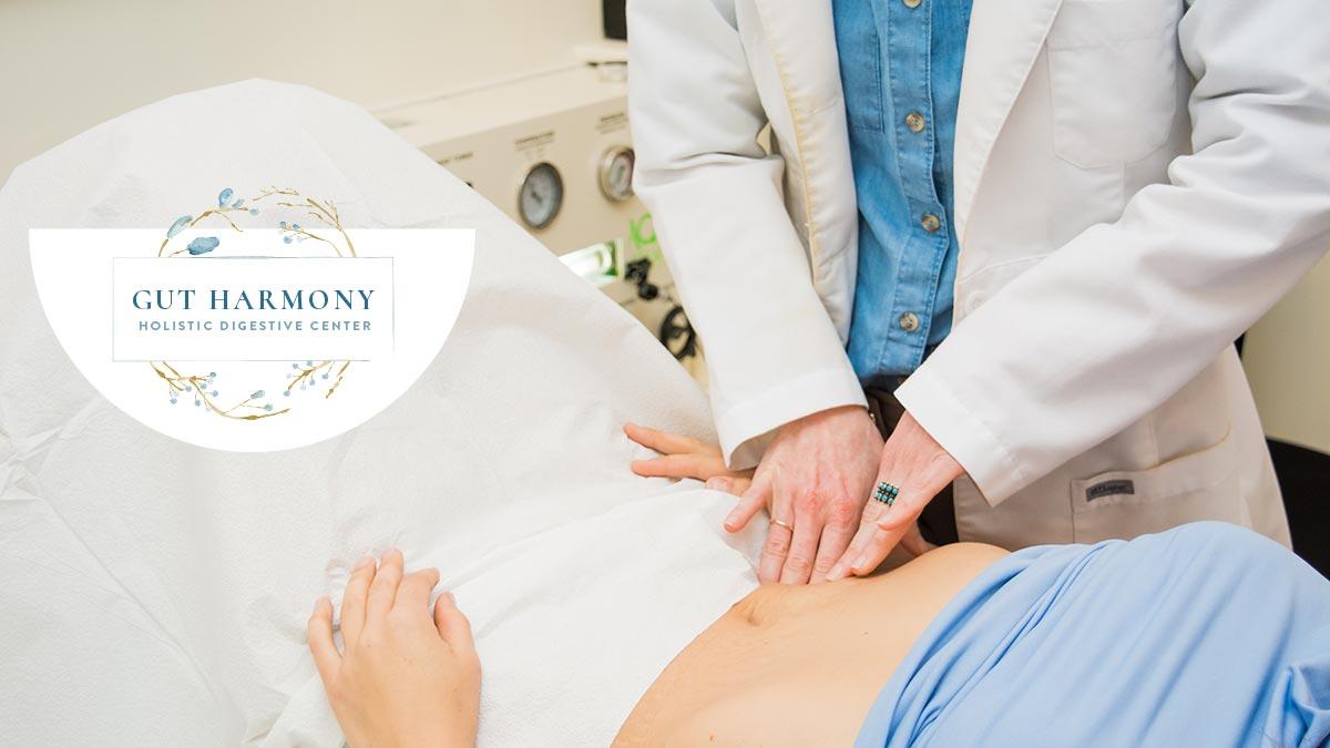 Gut Harmony, Mount Pleasant, SC. Stomach Massage with logo.
