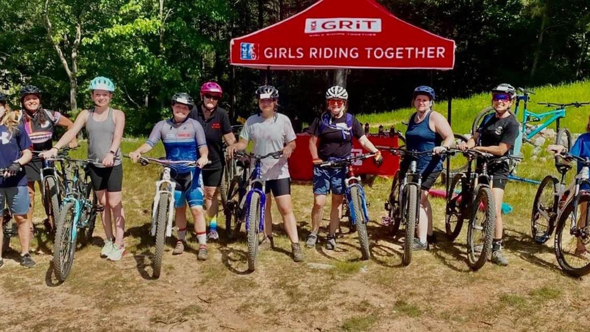 Girls mountain biking program called Girls Riding Together (GRiT)