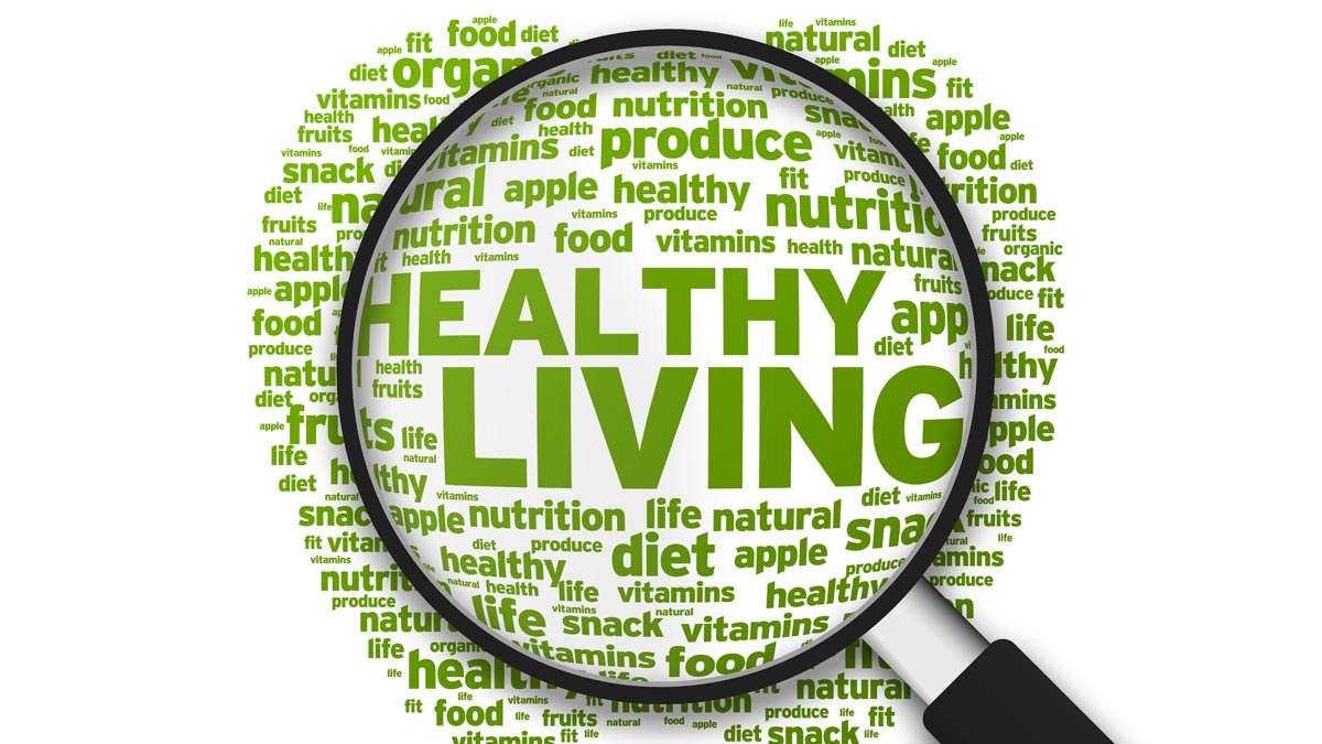 Healthy living graphic