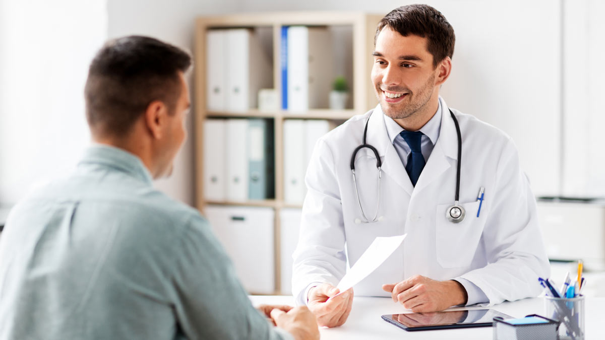 A patient with his Direct Primary Care doctor.