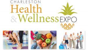 The Charleston Health & Wellness Expo logo with wellness and health photos.