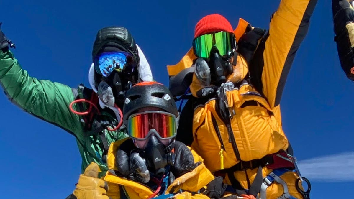 Fundraising for Cancer: Ain't No Mountain High Enough. Photo taken on Mount Everest.